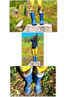 H is for Handmade: DIY Rain Boot Liners - Tutorial