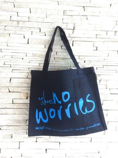 Items similar to EcoBag - No Shoes No Worries on Etsy No Worries, Reusable Tote Bags, Trending Outfits, Unique Jewelry, Handmade Gifts, Etsy, Shoes, Design, Products
