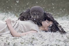 Owl protecting his princess - Katerina Plotnikova Photography