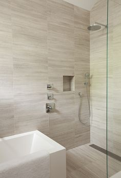 tub shower combo for showers. One head per shower and a hand held for the master shower.