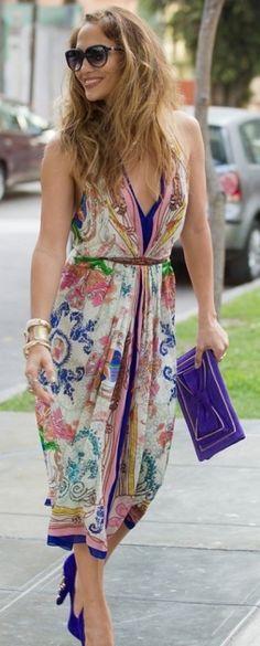 Jennifer lopez in maxi dress