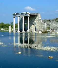 Miletos, Turkey, Ionic temple of Goddess Athena - Miletos of minor Asia - First half of Century BC Ancient City, Ancient Ruins, Ancient Rome, Ancient Greece, Cool Places To Visit, Places To Travel, Turkey Travel, Ancient Architecture, Ancient Civilizations