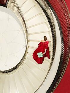 #escalier rouge...