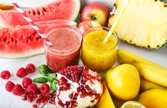 Here are just a few ideas for naturally colourful meals making up an entire daily Rainbow Diet Health Smoothie Recipes, Healthy Smoothies, Healthy Drinks, Rainbow Diet, Eat The Rainbow, Baby Food Recipes, Diet Recipes, Healthy Recipes, Vitamin Shakes