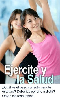 Ejercite y la salud- Website with Spanish articles about health for teens. Food unit?