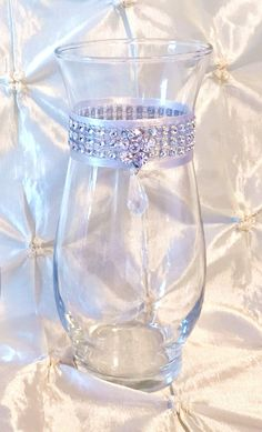 Dollar Tree Crafts Clear Glass From Pic Frame And Votive Candle Holder Line With Rhinestone
