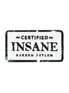 DC Comics Batman Arkham Asylum Insane Iron-On Patch, - Visit to grab an amazing super hero shirt now on sale!
