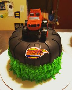 Blaze and the monster Machines smash cake