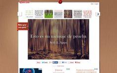 Quozio es una sencilla utilidad web gratuita para convertir texto y citas en imágenes y luego compartirlas en cualquiera de las principales redes sociales.