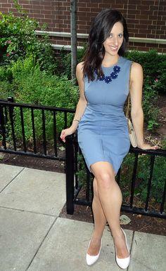 Banana Republic Blue Dress | High Heel Hydrangeas  instagram.com/highheelhydrangeas