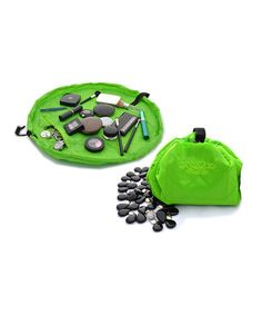 Green Cosmo Transforming Cosmetic Bag #zulily #zulilyfinds