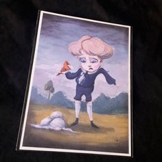 Coraline Boring Blue Boys Art Print Set