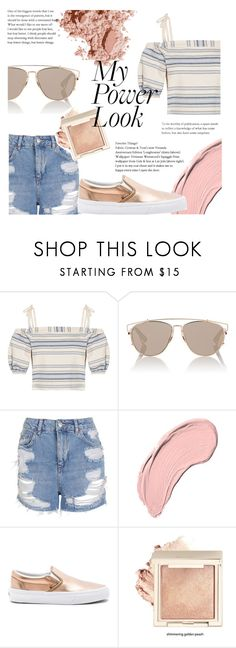 """""""Tonight Outfit"""" by elenaafiya ❤ liked on Polyvore featuring Lemlem, Christian Dior, Topshop, NYX, Vans and Bobbi Brown Cosmetics"""
