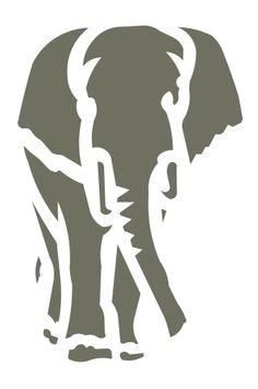 Elephant stencil elephants stencils animal safari craft template new x 4 Elephant Stencil, Elephant Quilt, Animal Stencil, Elephant Logo, Elephant Artwork, Safari Crafts, Stencils, Tiger Design, Scroll Saw Patterns