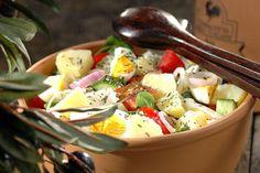 Πατατοσαλάτα με γλιστρίδα, ντομάτα και φέτα - Συνταγές | γαστρονόμος Egg Salad, Potato Salad, Feta, Salads, Potatoes, Eggs, Ethnic Recipes, Potato, Egg