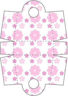 Paper Box Template, Card Making Templates, Paper Flower Patterns, Paper Flowers, Diy Arts And Crafts, Crafts For Kids, Pink Mason Jars, Paper Purse, Doll House Crafts