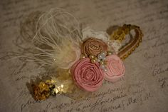 Goldilocks rosette headband by JLexiJolie on Etsy,