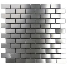 Stainless Steel Mosaic Tile 1x2 - Subway Tile Outlet  Like for behind cooktop area - see pics