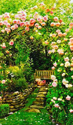 Rosy Nook in Garden www.liberatingdivineconsciousness.com