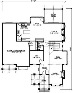 W23346JD 1st floor - I'd maybe make the den into a guest room, but I otherwise really like this layout.