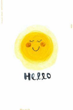 Items similar to Hello Sunshine illustration digital art print - on Etsy Hello Sunshine, You Are My Sunshine, Happy Sunshine, Illustrations, Illustration Art, Frases Humor, Good Morning Sunshine, Mellow Yellow, Happy Day