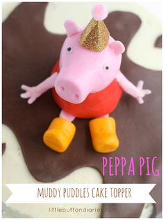 peppa pig birthday cake topper