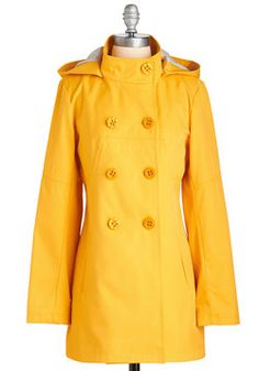 Embolden Opportunity Coat. Seize the perfect opportunity to brighten your daily endeavors with this cheerful, golden-yellow coat! #yellow #modcloth