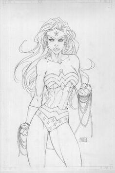 Wonder Woman by Michael Turner Comic Art... THE FACE LOOKS LIKE ROSE TYLER!!