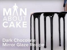 Dark Chocolate Mirror Glaze Recipe - Man About Cake | Craftsy