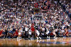 Michael Jordan's last shot as a Bull - wins the NBA title Karl Malone, Lee Van Cleef, Utah Jazz, Larry Bird, Osu Vs Nebraska, Michael Jordan Last Shot, Nba, Shooting Guard, Usa Hockey