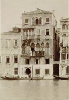 """""""Long shot of Fauré with Winnaretta Singer and others on the balcony of the Palazzo Volkoff, Venice, 1891."""""""