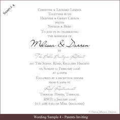wedding invitation etiquette and wedding invitation wording ...