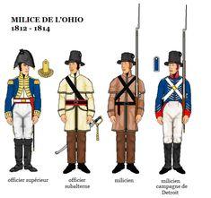 American War of 1812 Uniforms; American Indian Wars, American War, American Soldiers, Barbary Wars, Independence War, British Uniforms, War Of 1812, American Revolutionary War, Army & Navy