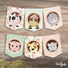 Party Animals, Farm Animal Party, Baby Farm Animals, Farm Animal Birthday, Farm Birthday, Farm Party, Birthday Party Themes, Party Kit, Paper Pop