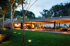 Home Design. Beautiful Stylish House in Brazil Designed by Studio House Modern Open Area Architecture ~ Slim 69 Modern Architecture House, Modern House Design, Architecture Design, Tropical Architecture, Sustainable Architecture, Residential Architecture, Studio Mk27, Exposed Concrete, Home Studio