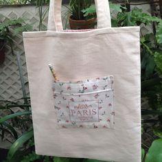Sacola forrada com bolso interno.  #bag #patchwork   #tecido #fabric #paris #bolsa #sacola