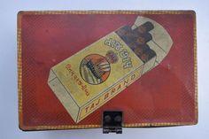 TajBrand Cigrarette Tin Box, Rare Collectible Litho Print Tin Boxes Indian #1809