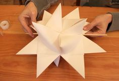 Winter ~ Advent ~ Week One: Crystal & Stone ~ Large Paper Stars ~ Instructions