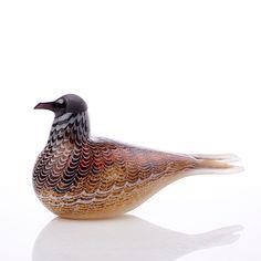 OIVA TOIKKA - Glass bird for Nuutajärvi, numbered 1231/3000, Finland.    [h. 16 cm, l. 34 cm] Glass Design, Design Art, Finland, Modern Contemporary, Decorative Bowls, Retro Vintage, Mid Century, Birds, Crafts