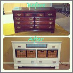 dresser Into TV Stands drawer chest-#dresser #Into #TV #Stands #drawer #chest Please Click Link To Find More Reference,,, ENJOY!! Refurbished Furniture, Repurposed Furniture, Furniture Makeover, Painted Furniture, Refurbished Cabinets, Dresser Repurposed, Dresser Makeovers, Dresser With Tv, Dresser Tv Stand