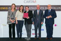 El Sommelier Javier Campo, colaborador de Los Foodistas, recibe el premio CartaVi que distingue las mejores cartas de vinos de Cataluña...