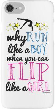 Gymnastics - Flip Like a Girl iPhone 7 Cases