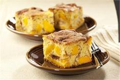 Perfectly Peach Cinnacake. Lucky Leaf Pie Filling recipes curated by SavingStar Grocery Coupons. Save money on your groceries at SavingStar.com