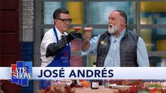 """Chef José Andrés shows Stephen how to make a delicious meal with all of your Thanksgiving leftovers! Find more recipes in his new cookbook """"Vegetables Unleas. Big Group, Thanksgiving Leftovers, New Cookbooks, Live Tv, Holiday Desserts, Funny Moments, Movie Stars, Whole Food Recipes, Stephen Colbert"""
