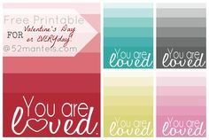 52 Mantels: Free Valentine's Day {and everyday!} Printables!