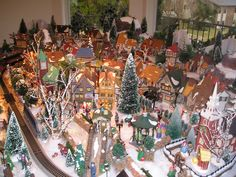 My mother-in-law's Christmas village!  It is amazing!!!