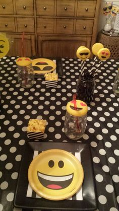 emoji party table most items from target.com & dollar tree