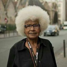 Grandma rocking her natural hair