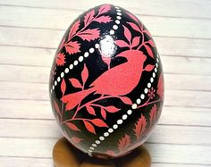Cardinal Ornament, Pysanky ornament, Christmas tree ornament, Pysanky, Pysanka, Ukrainian eggs, Red cardinal, Cardinal bird, Cardinal gift Cardinal Ornaments, Cardinal Birds, Christmas Tree Ornaments, Christmas Crafts, Christmas Decorations, Easter Egg Designs, Easter Ideas, Incredible Eggs, Egg Tree