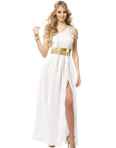 Griechisch Beauty Damen Weiß Gold Römische Toga Halloween Kostüm Kostüm  Verkleidung, Griechisch, Halloween Kostüm 6740dd2160